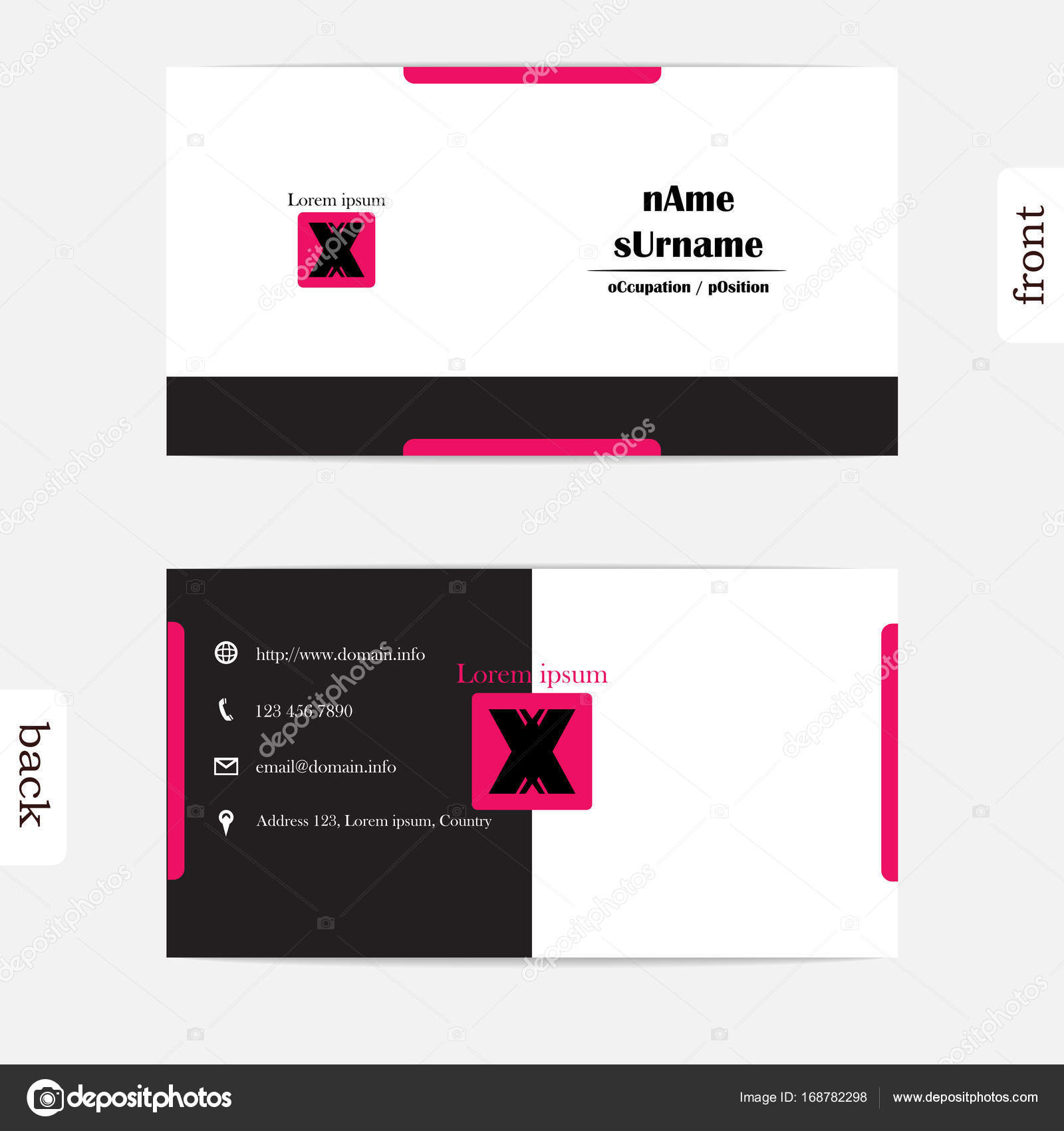 Design simple creative and clean business card template show front design simple creative and clean business card template show front and back concept smart reheart Images