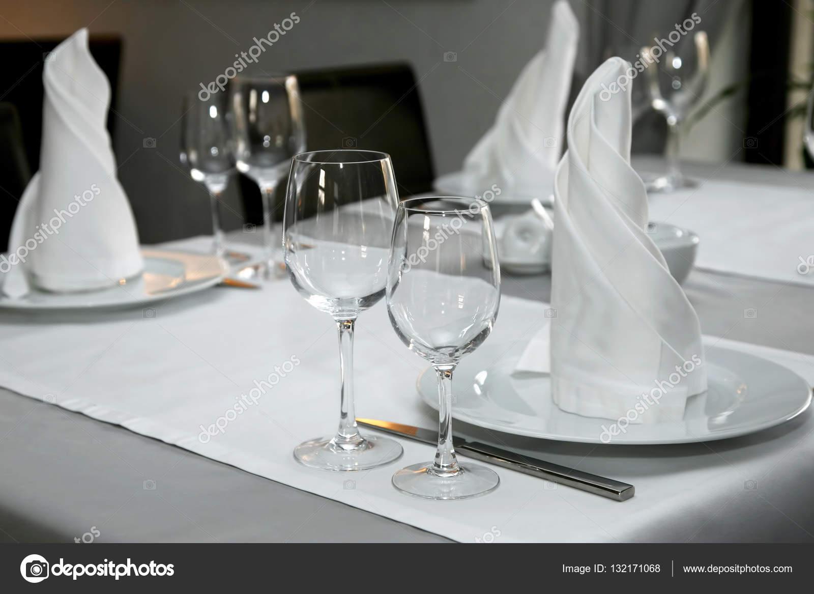 Table setting in restaurant close up \u2014 Stock Photo & table setting in restaurant close up \u2014 Stock Photo © OlegTroino ...