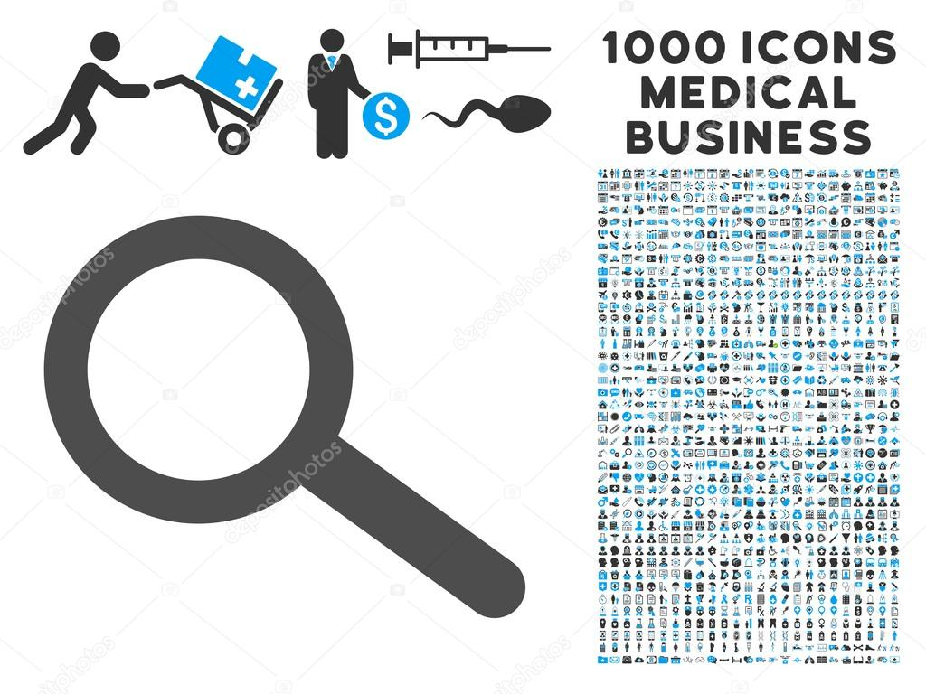 Find Icon With 1000 Medical Business Symbols Stock Vector