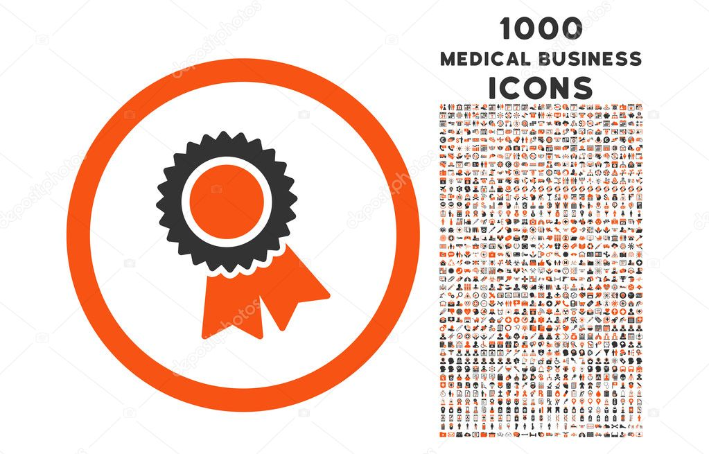 Certification Rounded Icon with 1000 Bonus Icons — Stock Vector ...