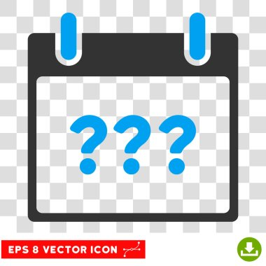 Unknown Day Calendar Page Eps Vector Icon