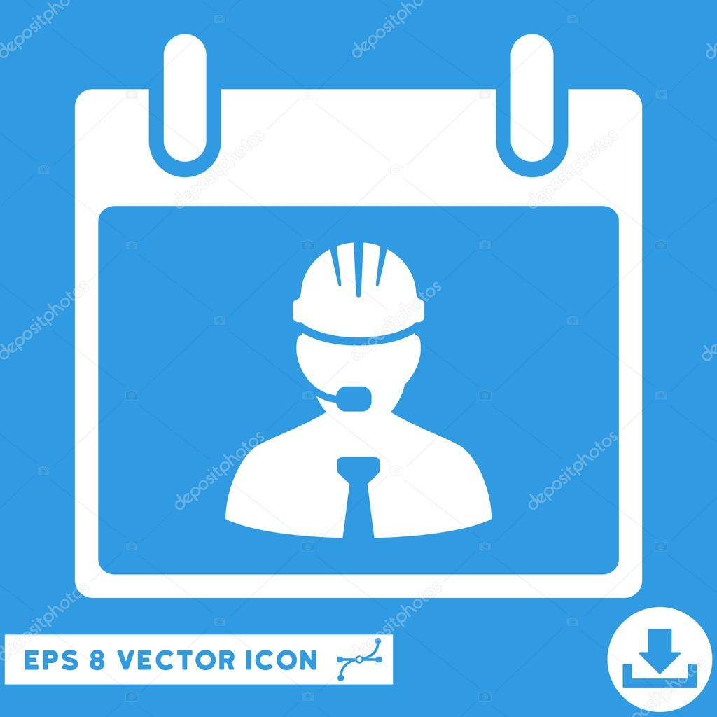 Calendar Pages Vector : Engineer calendar page vector eps icon — stock
