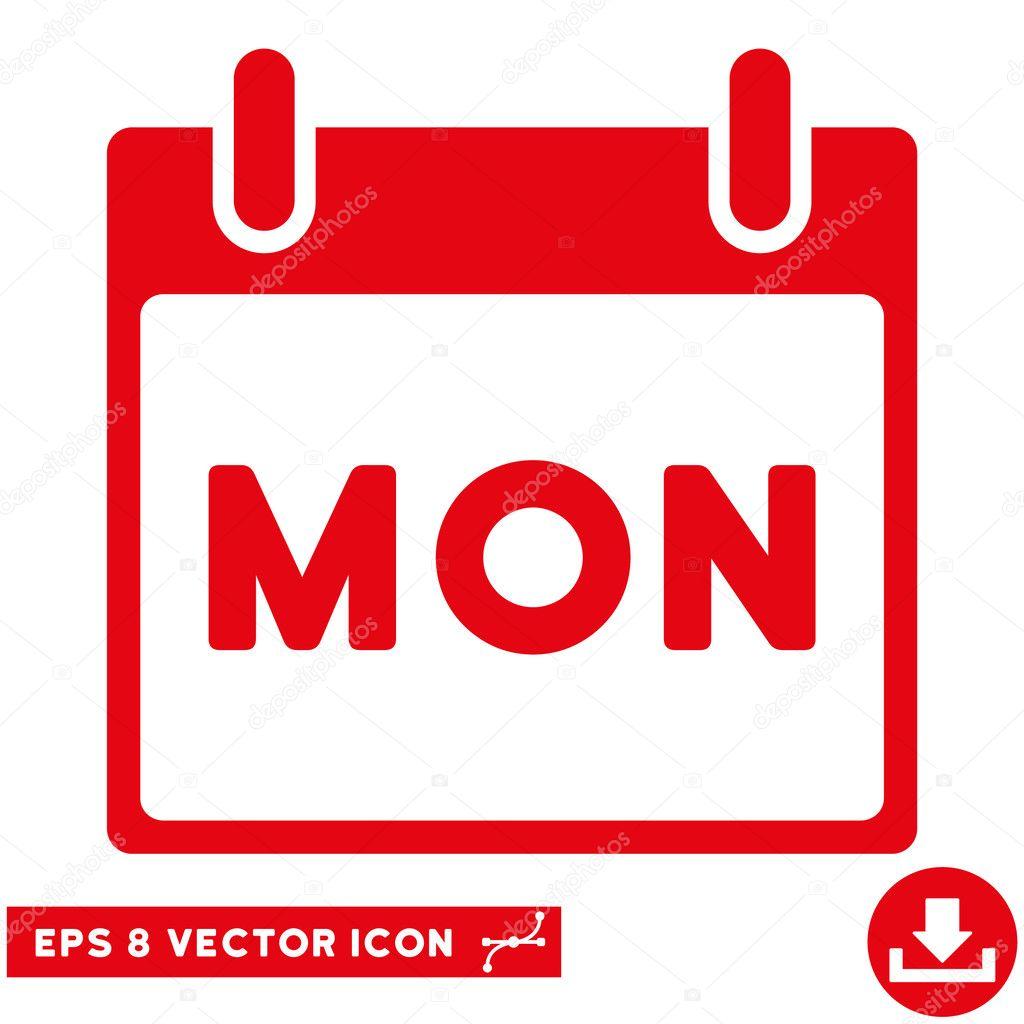 Calendario Repas.Lunes Calendario Pagina Vector Icono De Eps Vector De