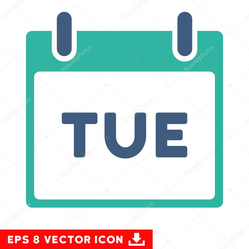Calendar Pages Vector : Tuesday calendar page vector eps icon — stock