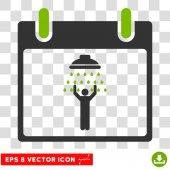 Muž sprcha kalendářní den Eps vektorové ikony