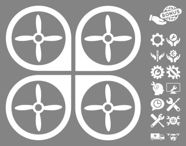Nanocopter Vector Icon With Tools Bonus