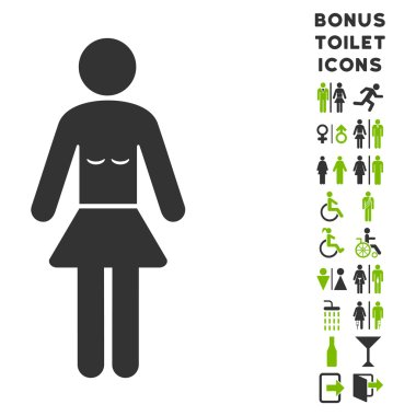 Lady Flat Vector Icon and Bonus