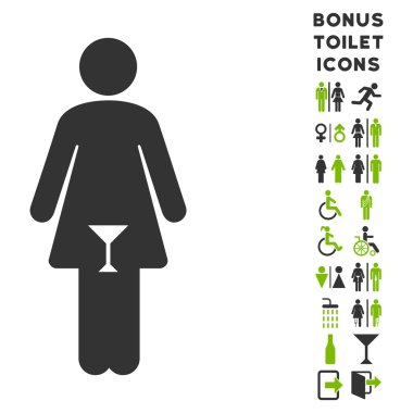 Woman Flat Vector Icon and Bonus