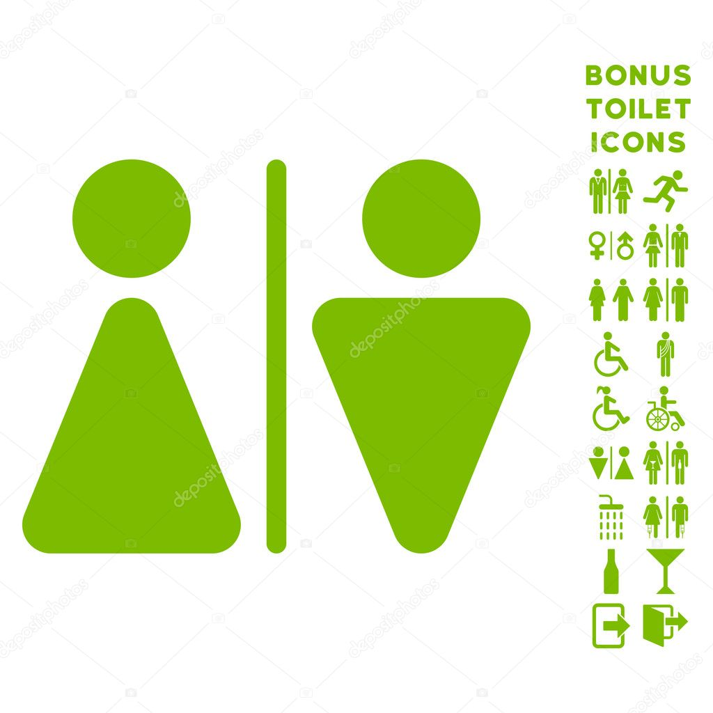 wc personen platte vector icon en bonus stockvector. Black Bedroom Furniture Sets. Home Design Ideas