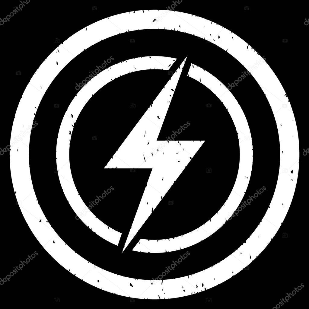 Elektrische Gefahr Symbol-Stempel — Stockvektor © ahasoft #130381974