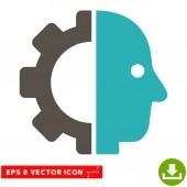 Kyborg hlavu vektorové Eps ikona