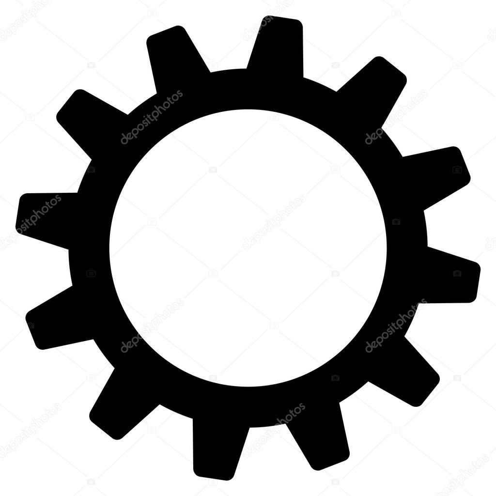 Flache Zahnrad Symbol Stockvektor Ahasoft 130426252