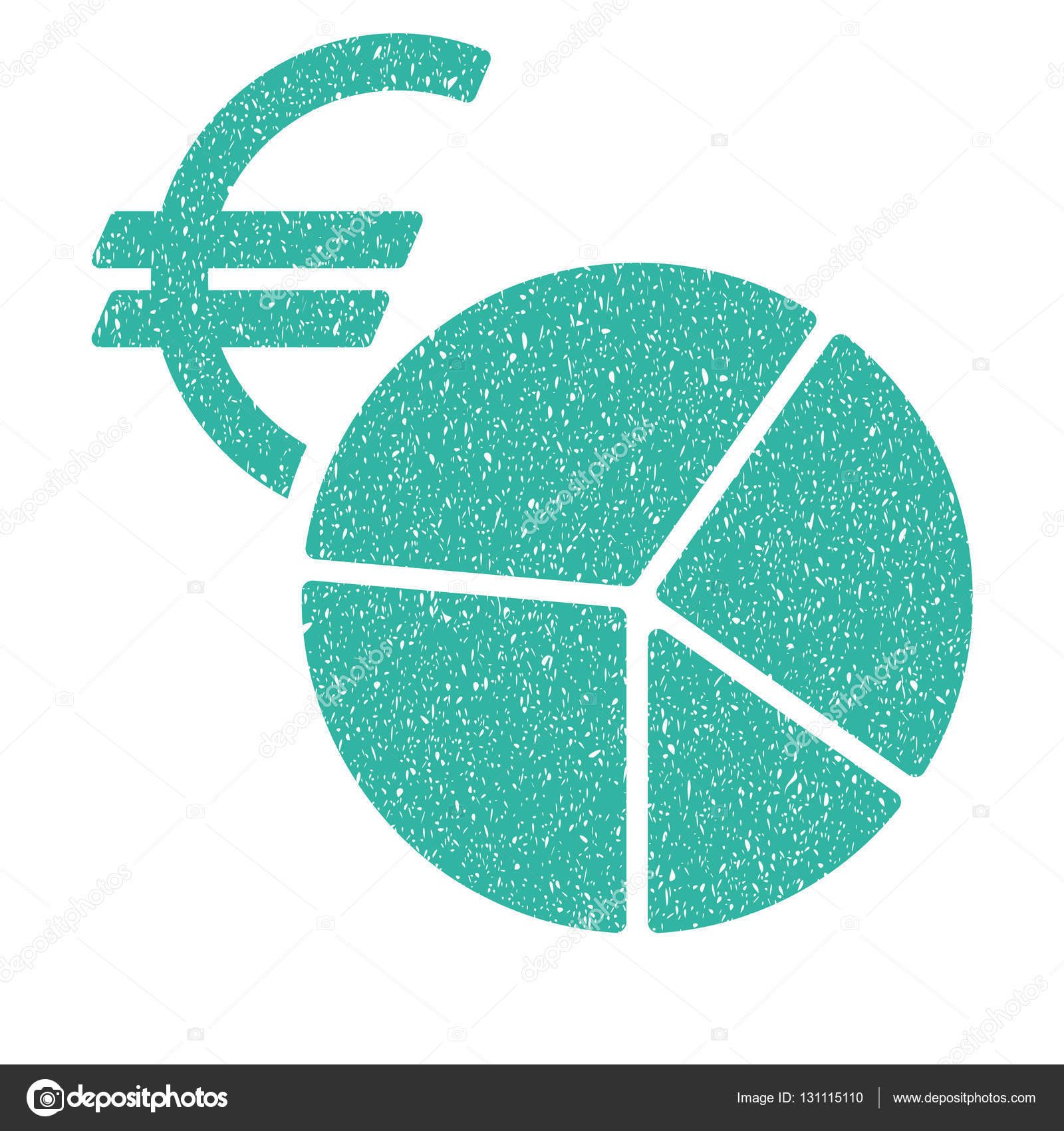 Euro currency pie chart grainy texture icon stock vector ahasoft euro currency pie chart grainy textured icon for overlay watermark stamps flat symbol with scratched texture dotted vector cyan ink rubber seal stamp with buycottarizona Choice Image