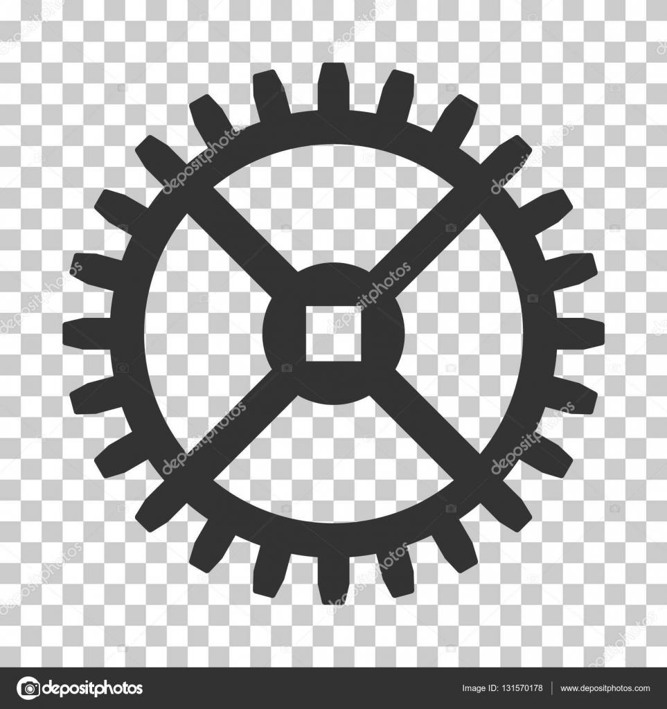 Clock Gear Vector Icon — Stock Vector © ahasoft #131570178