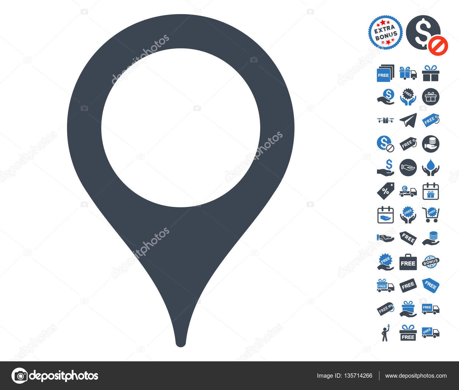 Carte Pointeur Icone Avec Bonus Gratuit Image Vectorielle Ahasoft C 135714266