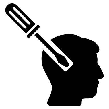 Head Screwdriver Tuning Flat Icon