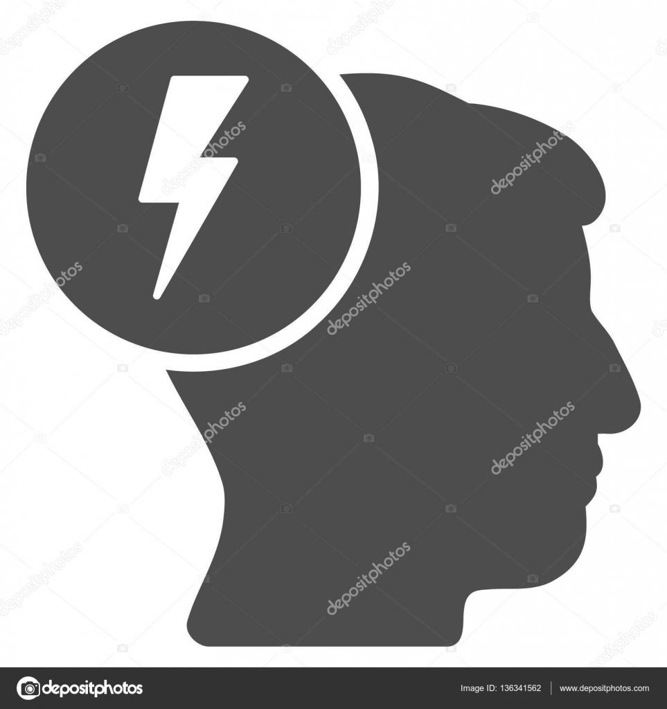 Brain Electricity Flat Icon — Stock Vector © ahasoft #136341562