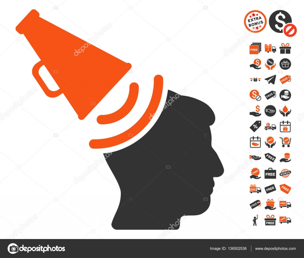 Propaganda megaphone icon with free bonus stock vector ahasoft propaganda megaphone icon with free bonus pictograms vector illustration style is flat iconic symbols orange and gray colors white background publicscrutiny Gallery