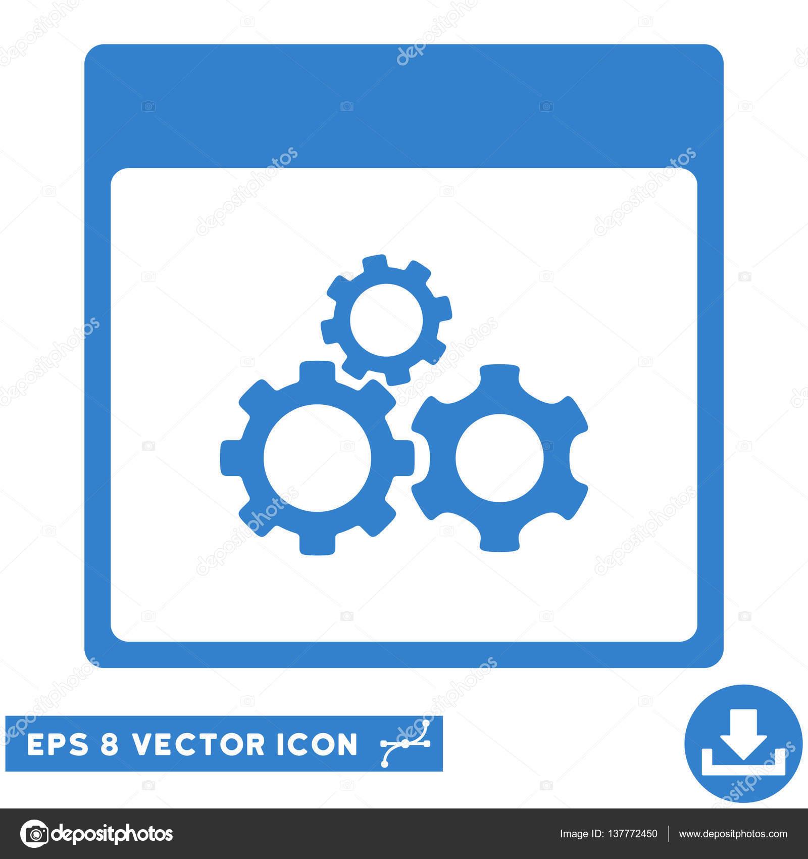 Calendario Meccanici.Meccanica Ingranaggi Pagina Vettoriale Eps Icona Del