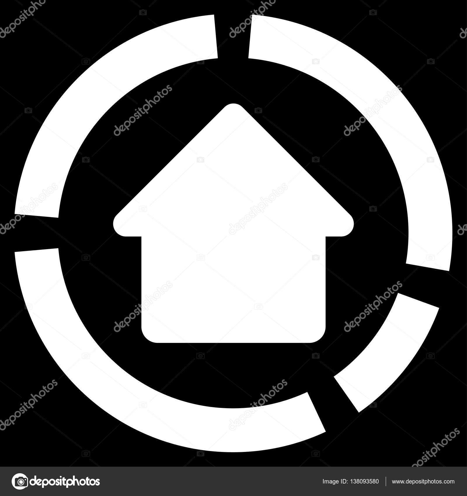 Haus Diagramm flache Vektor Icon — Stockvektor © ahasoft #138093580