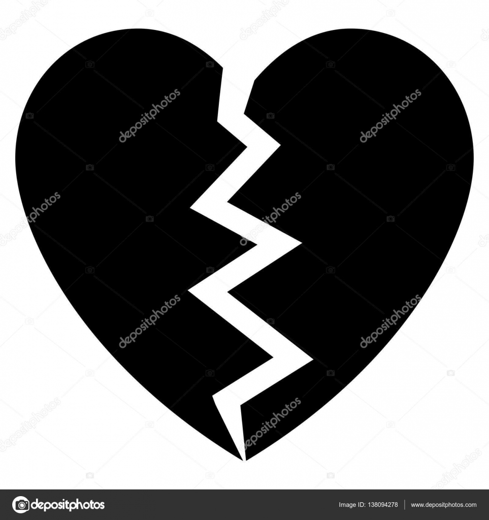 broken heart flat vector icon stock vector ahasoft 138094278 rh depositphotos com broken heart emoji vector broken heart vector download