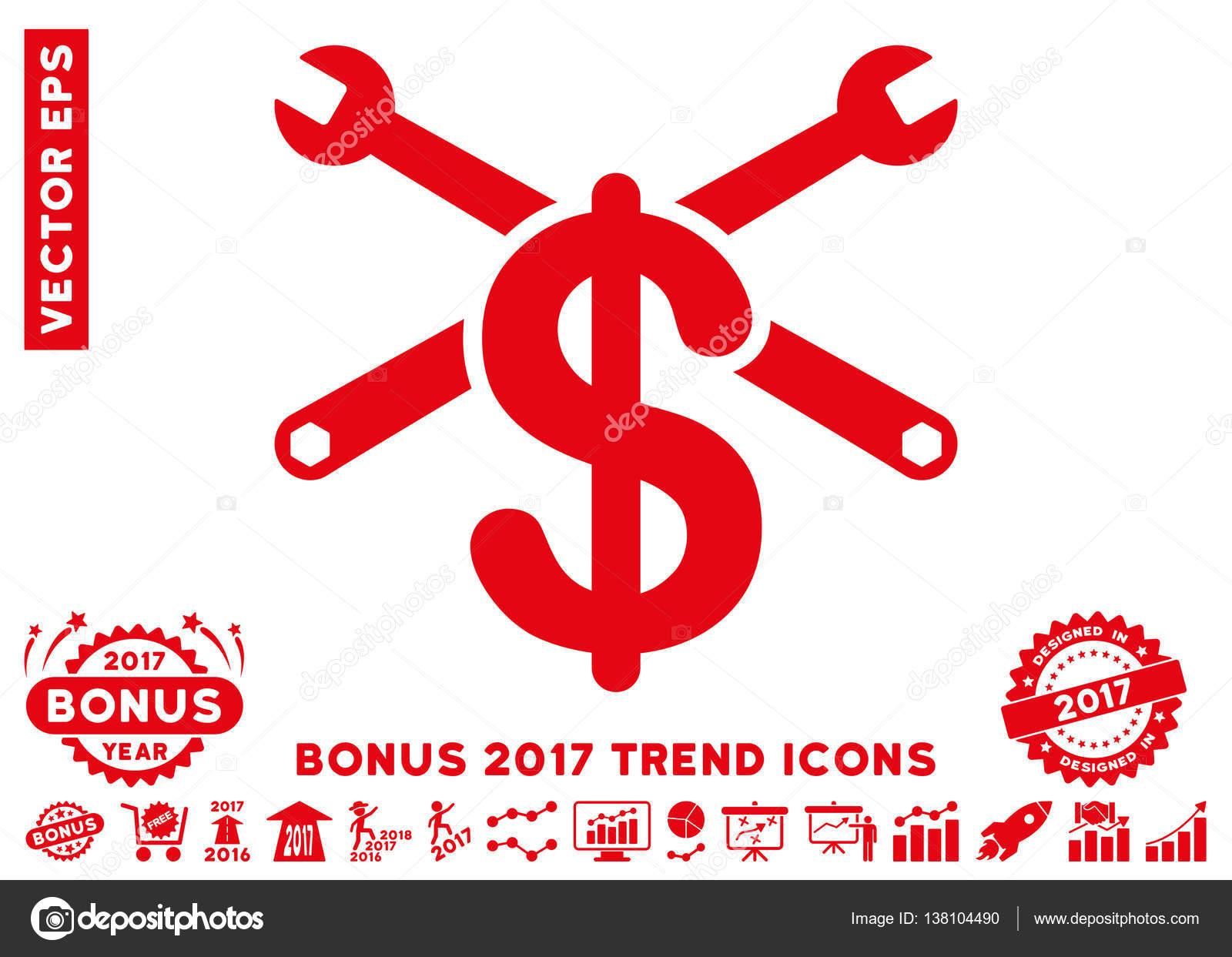 repair service price flat icon with 2017 bonus trend stock vector