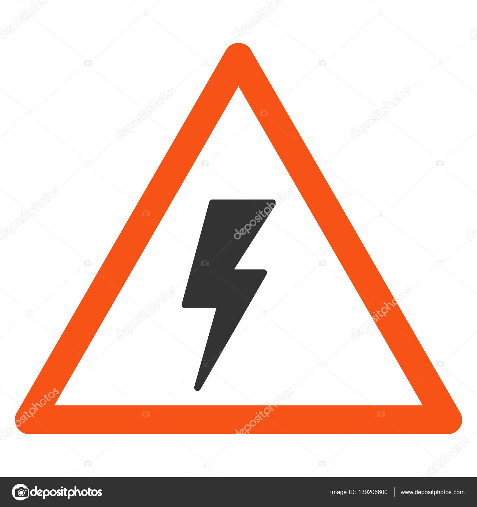 Flach-Warnsymbol Strom Schock — Stockvektor © ahasoft #139206600