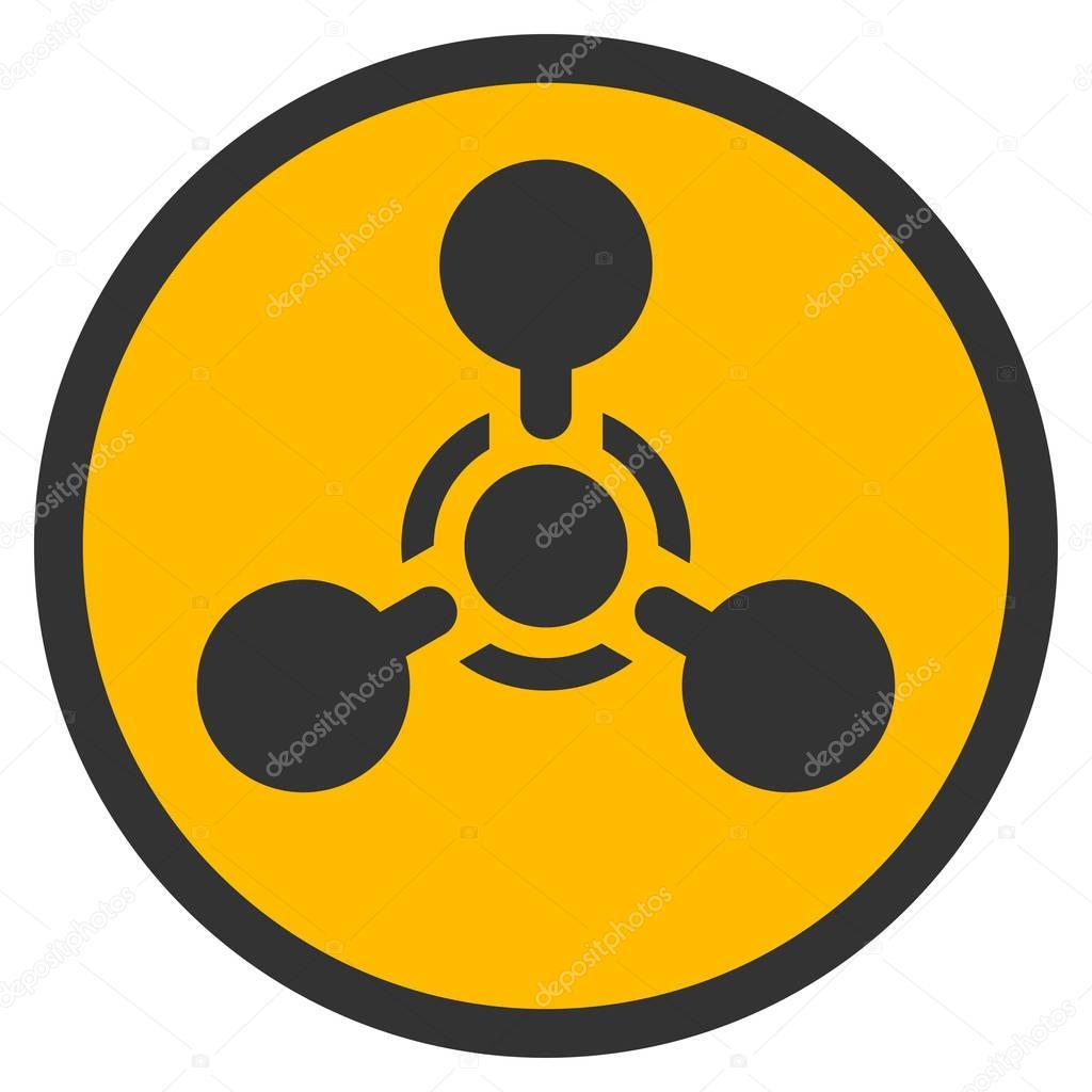 大量破壊兵器神経エージェント化学兵器フラット アイコン — ストックベクター © ahasoft #139206922