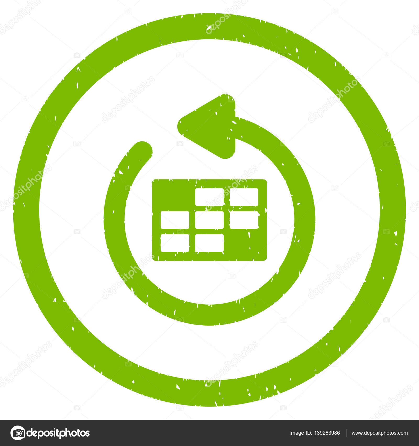 Actualizar Calendario.Actualizar Calendario Redondeado Icono Granulada Vector De