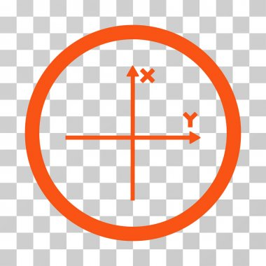 Coordinate Axis Rounded Vector Icon
