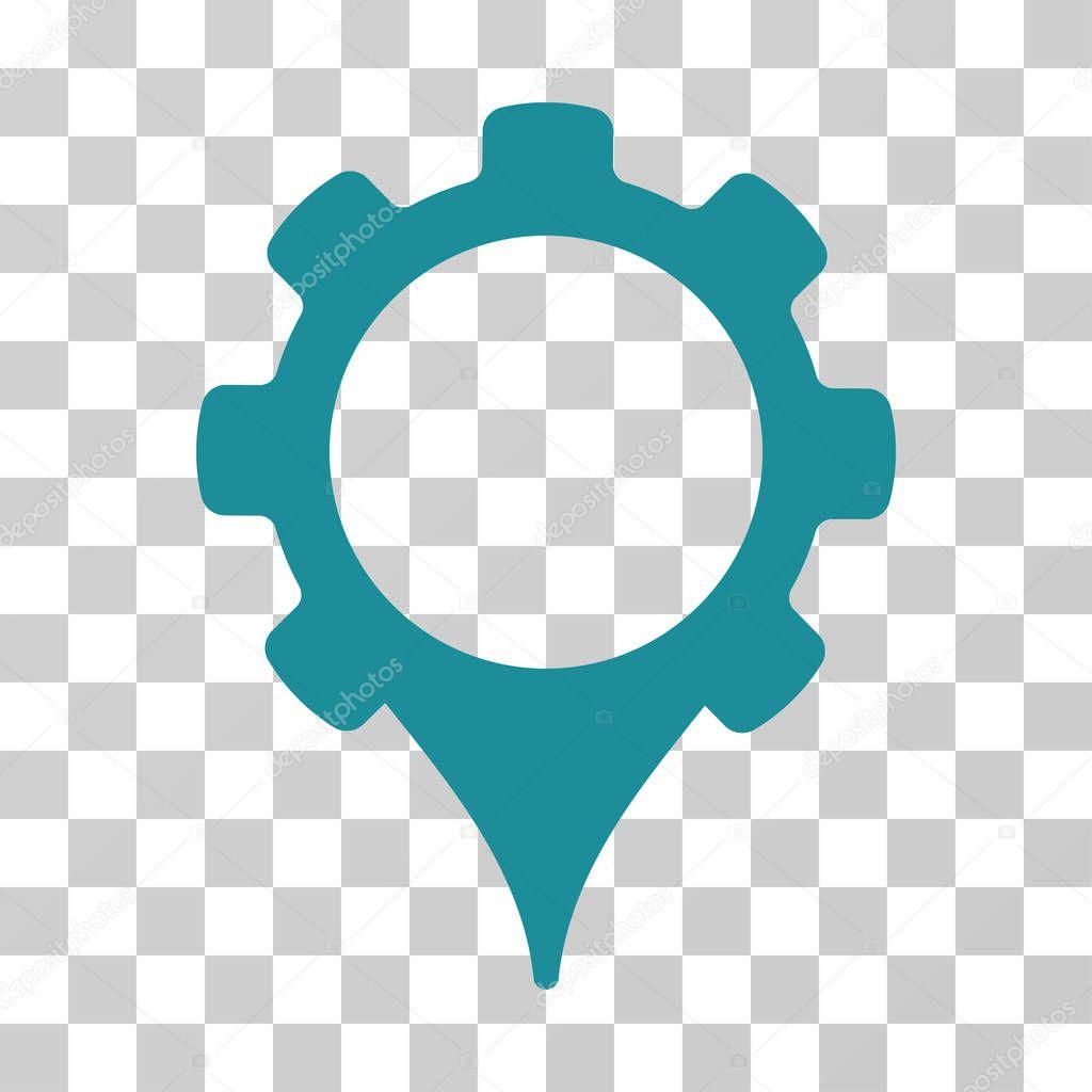 GPS Settings Vector Icon