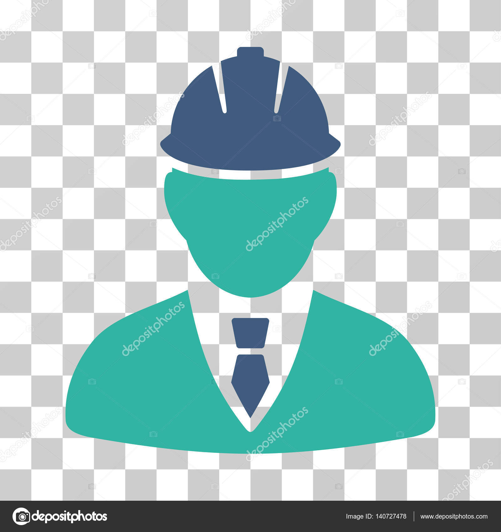 Engineer vector icon stock vector ahasoft 140727478 engineer icon vector illustration style is flat iconic bicolor symbol cobalt and cyan colors transparent background designed for web and software biocorpaavc