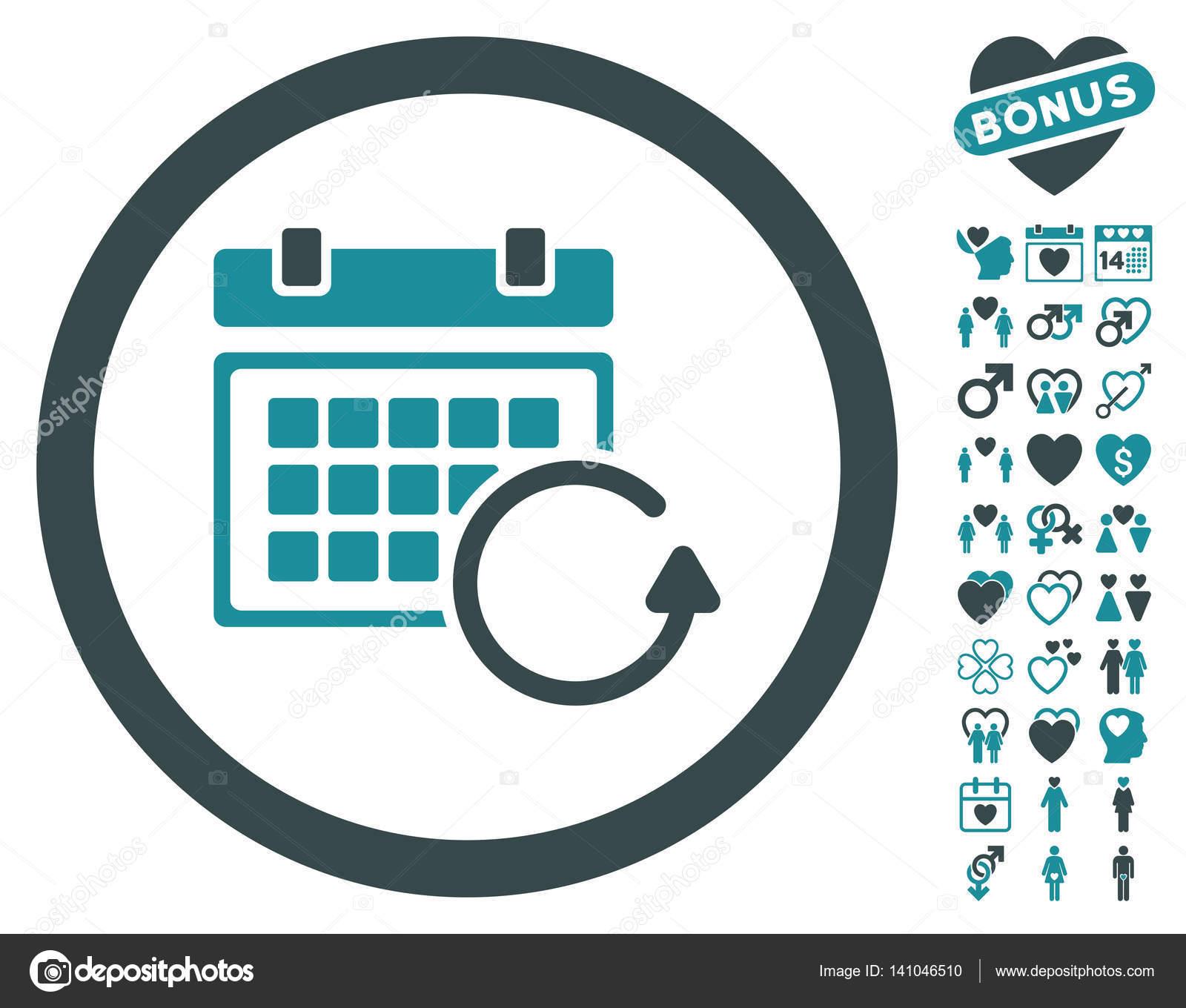 Actualizar Calendario.Actualizacion Calendario Icono Redondeado Con Prima Hermosa