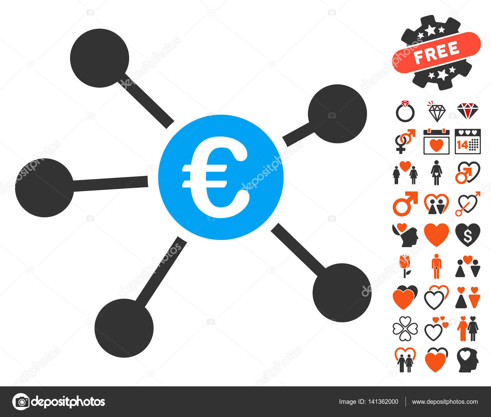 Euro links icon with lovely bonus stock vector ahasoft 141362000 euro links icon with bonus valentine pictures vector illustration style is flat iconic symbols for web design app user interfaces vector by ahasoft biocorpaavc Gallery