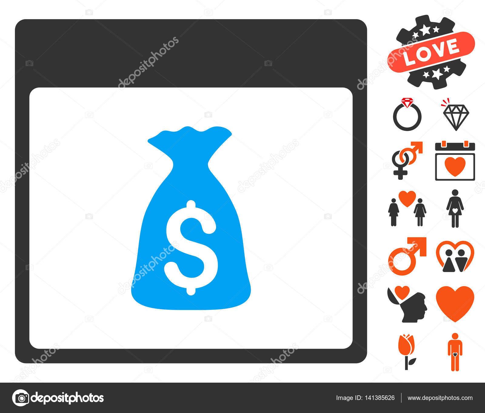 Calendario Di Borsa.Icona Di Pagina Di Calendario Borsa Dei Soldi Con Bonus