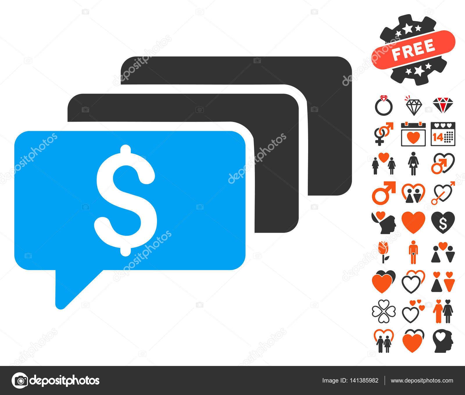 Money Messages Icon With Love Bonus Stock Vector Ahasoft 141385982