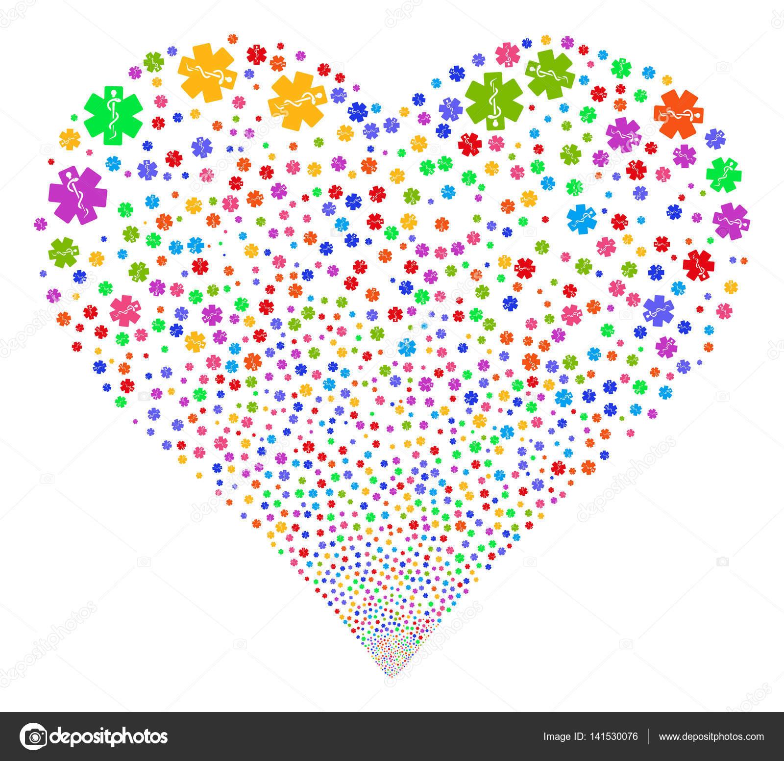 Life Star Fireworks Heart Stock Vector Ahasoft 141530076