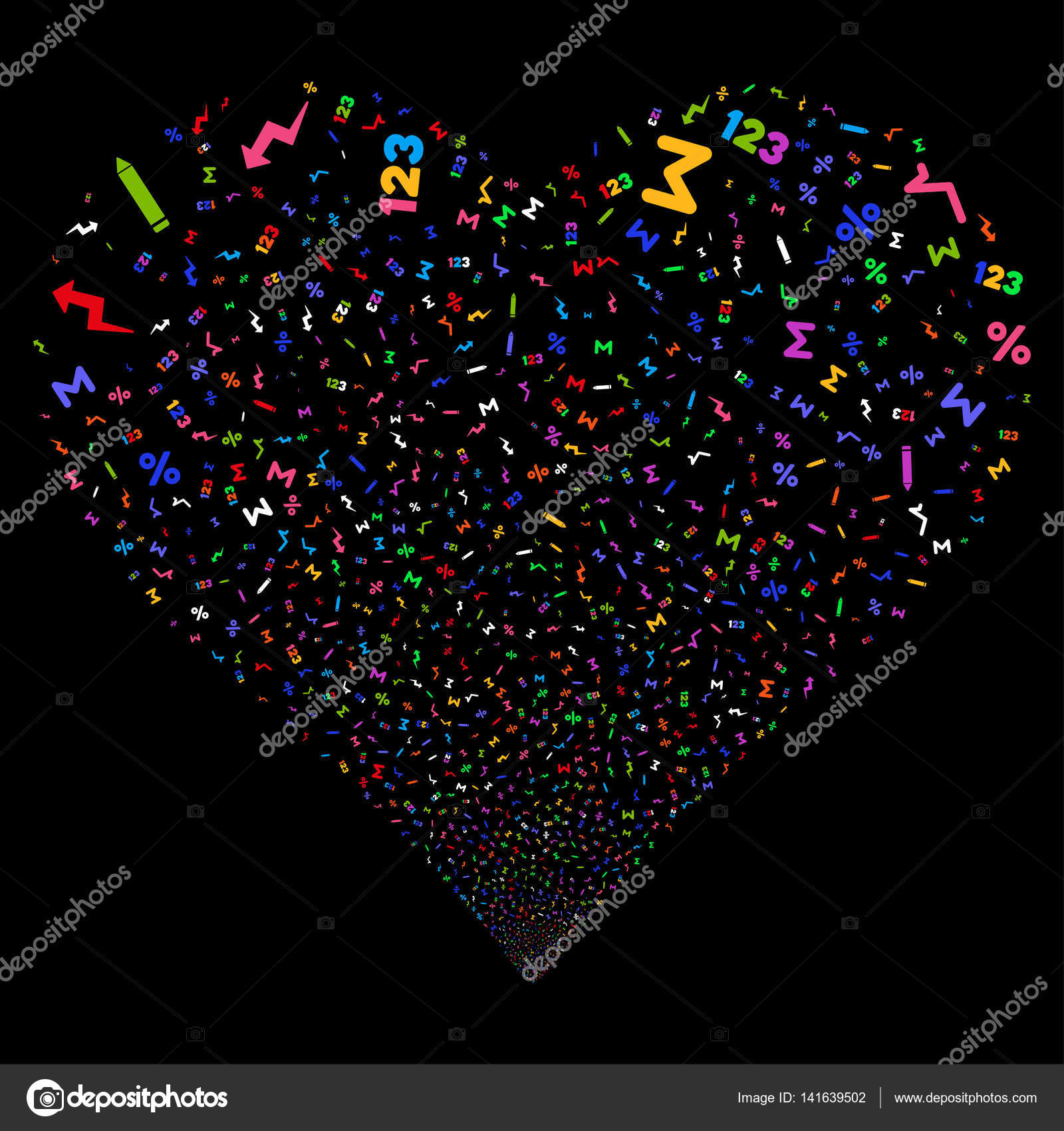 Math symbols fireworks heart stock vector ahasoft 141639502 math symbols fireworks heart stock vector biocorpaavc Images