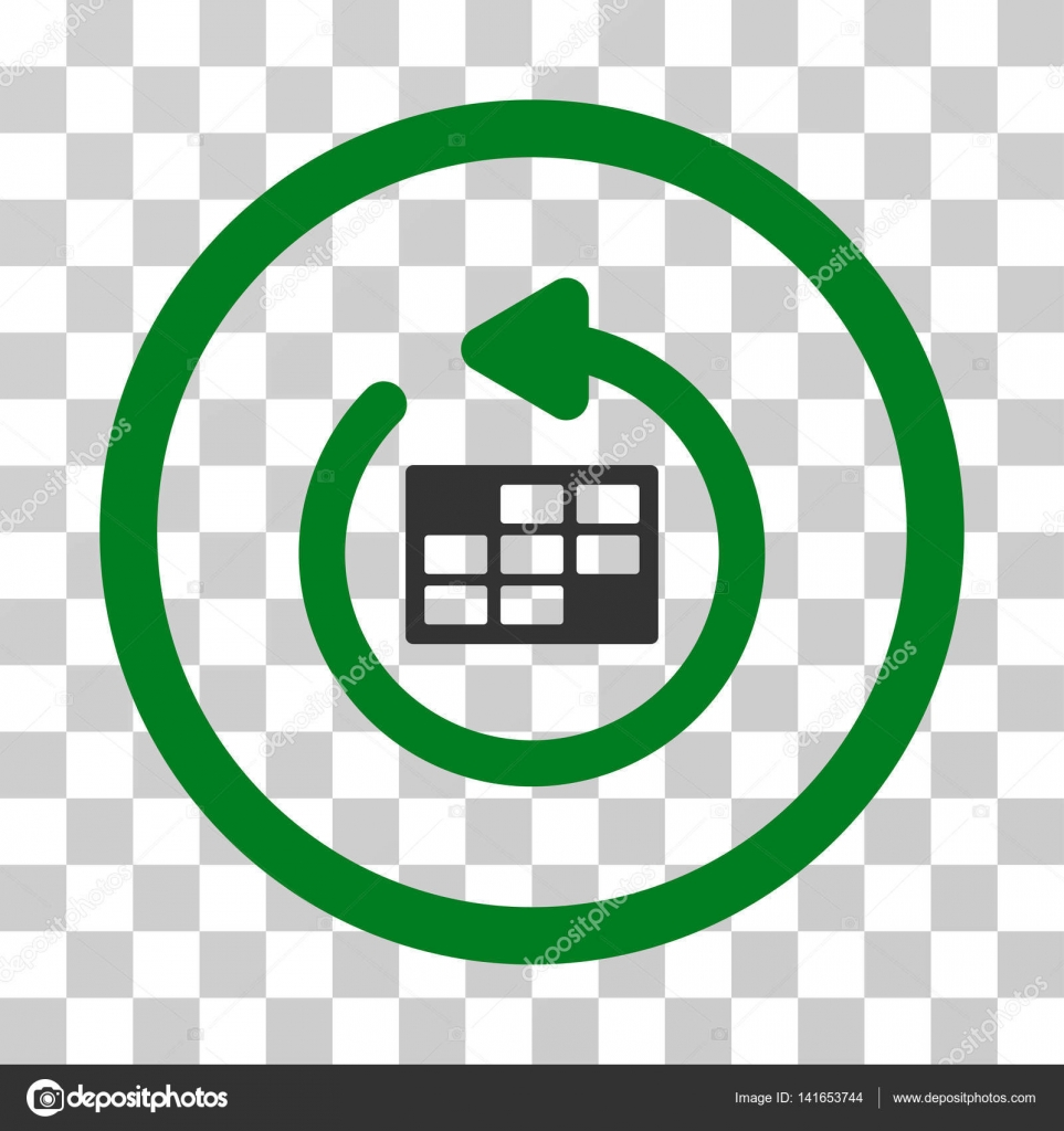 Actualizar Calendario.Actualizar Calendario Redondo Vector Icono Vector De Stock