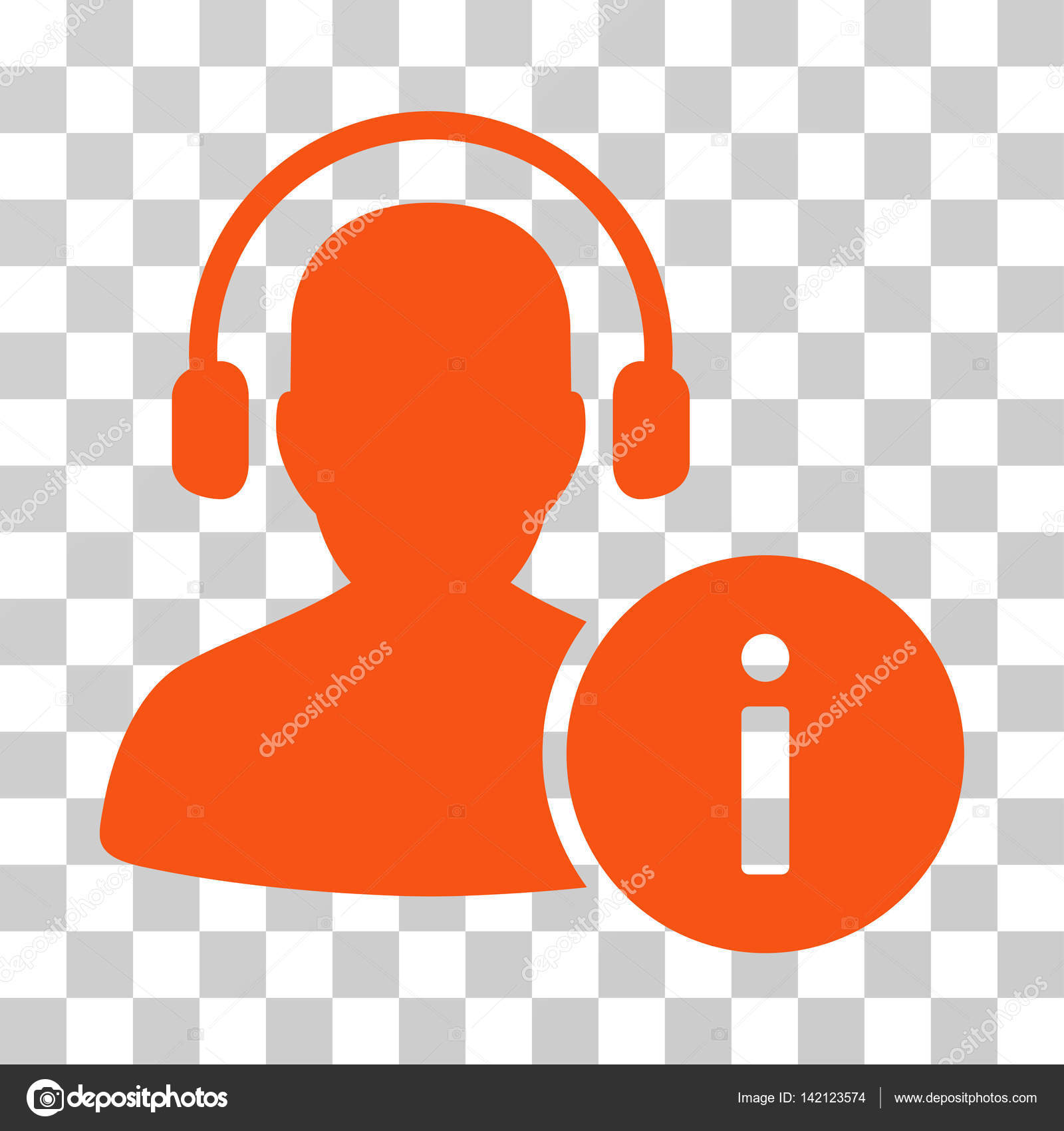 Help Desk Icon. Vector Illustration Style Is Flat Iconic Symbol, Orange  Color, Transparent Background. Designed For Web And Software Interfaces.