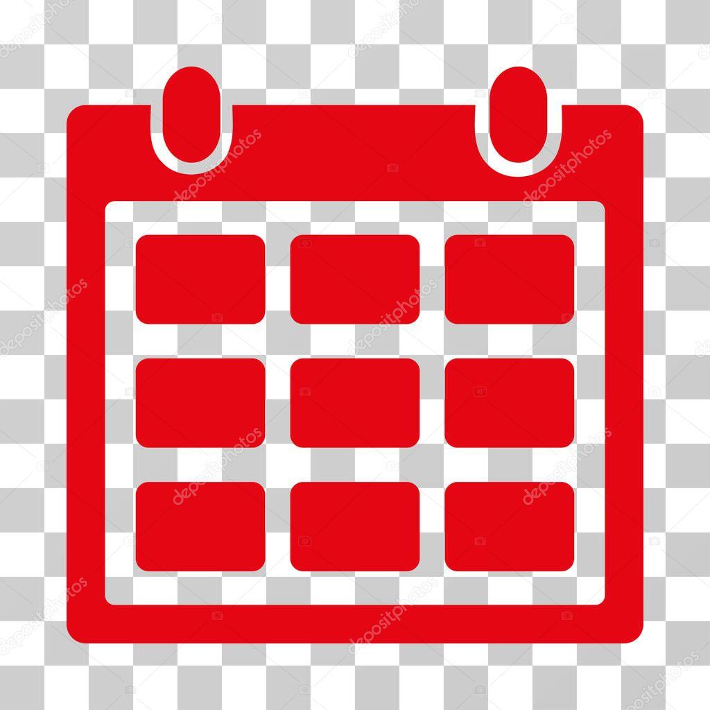 Red Calendar Icon 6 December Vector Illustration Eps10