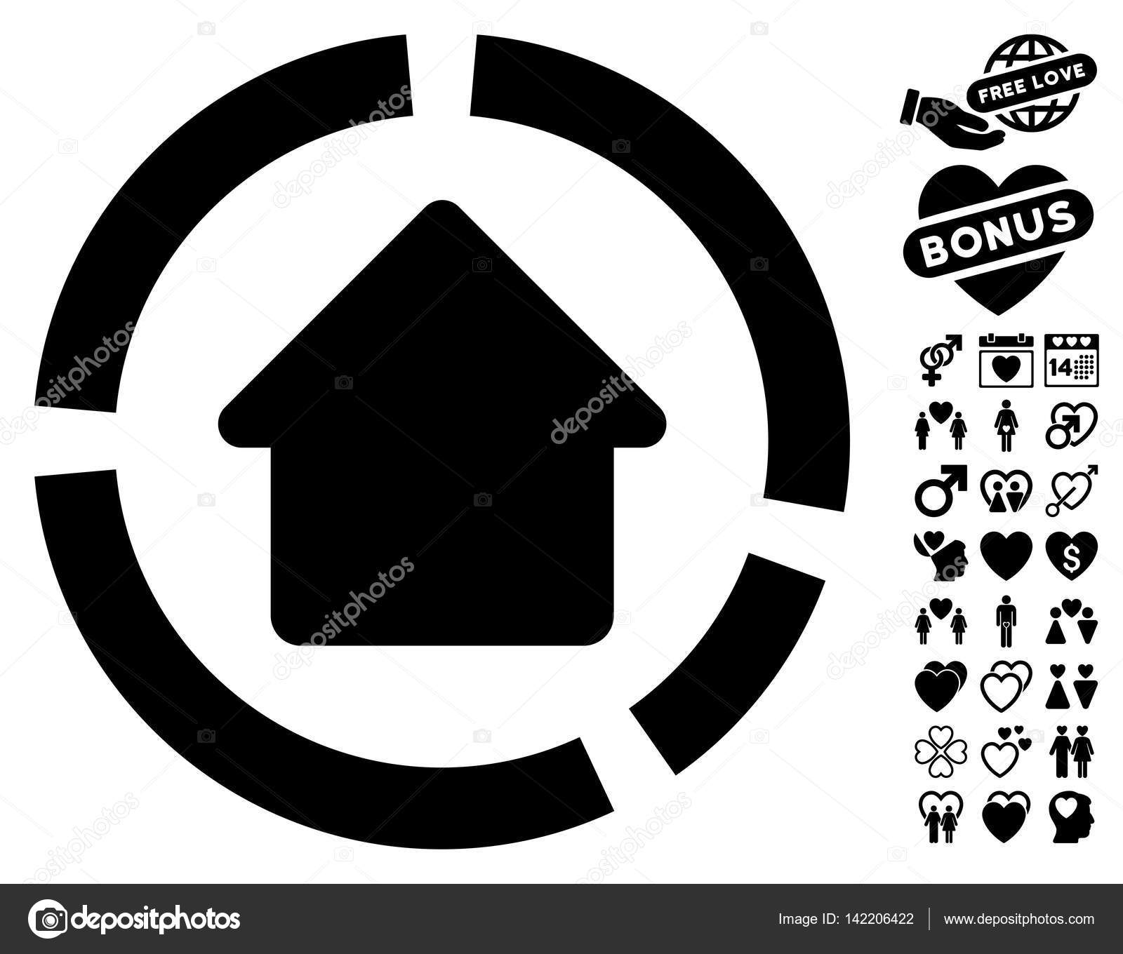 Haus-Diagramm-Symbol mit schönen Bonus — Stockvektor © ahasoft ...