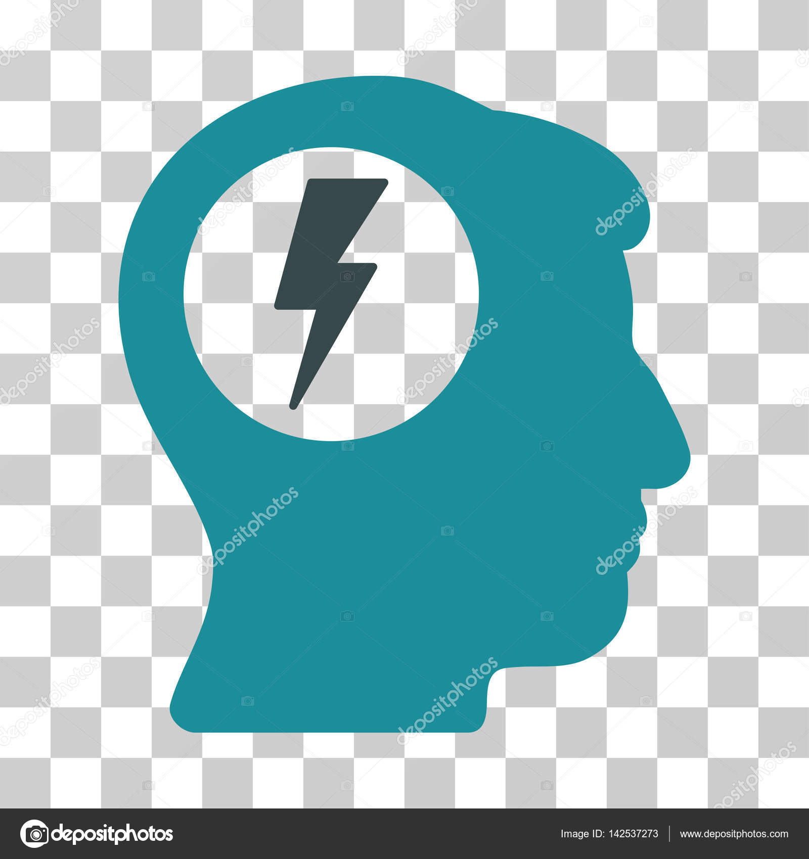 Brain electric shock vector icon stock vector ahasoft 142537273 brain electric shock vector pictogram illustration style is a flat iconic bicolor soft blue symbol on a transparent background vector by ahasoft biocorpaavc Image collections