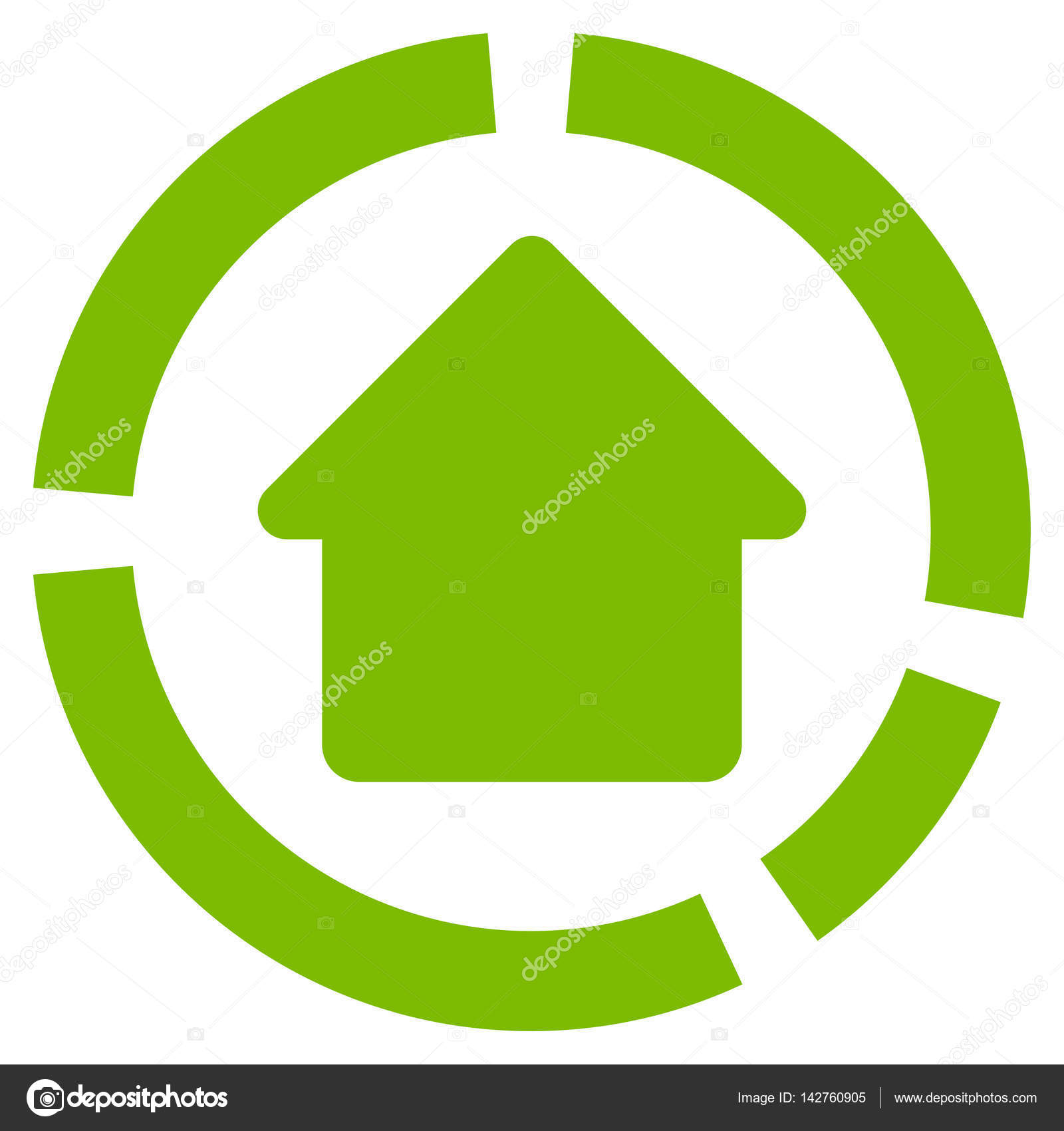 Haus Diagramm flache Vektor Icon — Stockvektor © ahasoft #142760905
