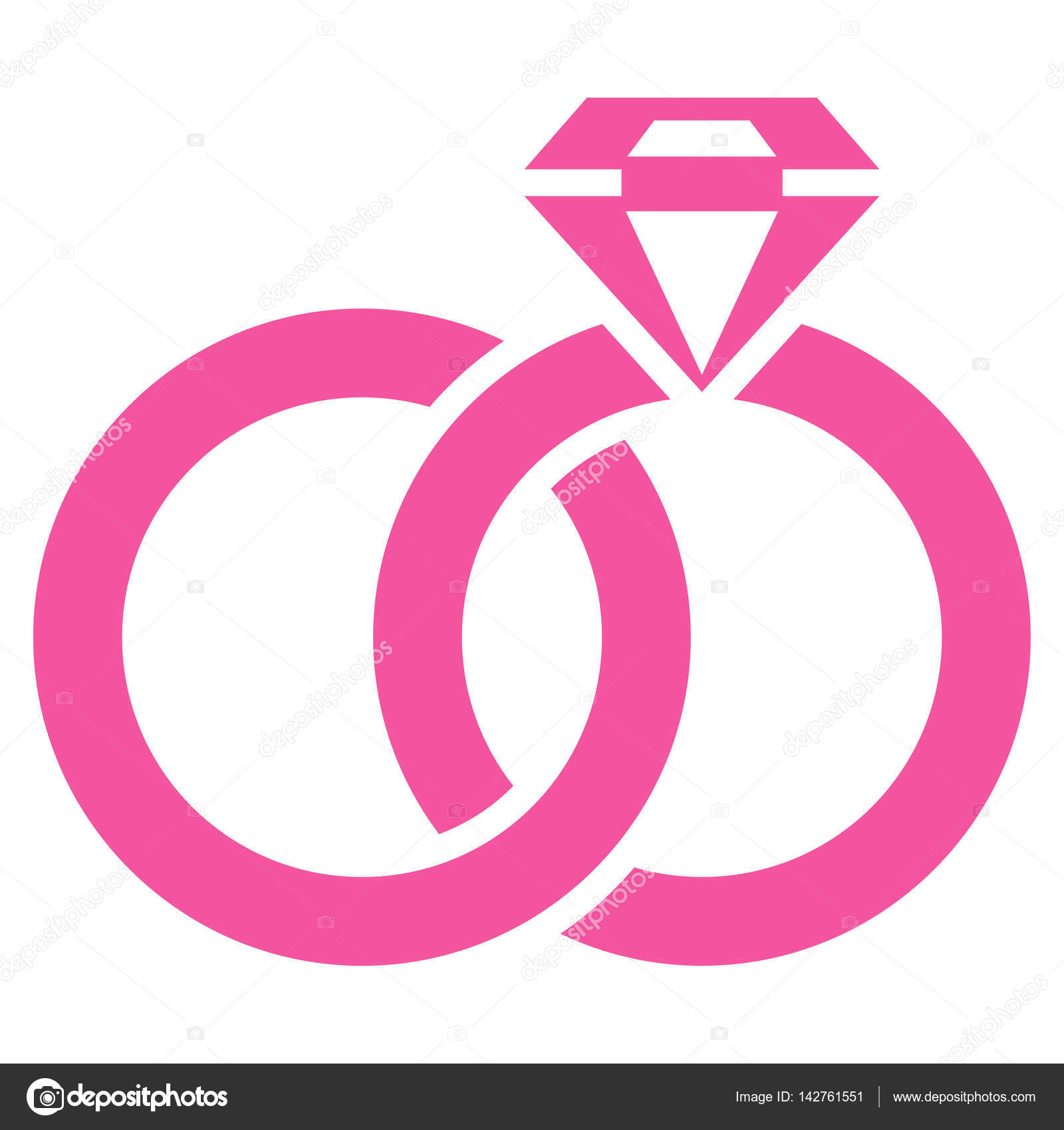 Wedding Rings With Gem Flat Vector Icon — Stock Vector © ahasoft ...