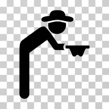 Gentleman Beggar Vector Icon