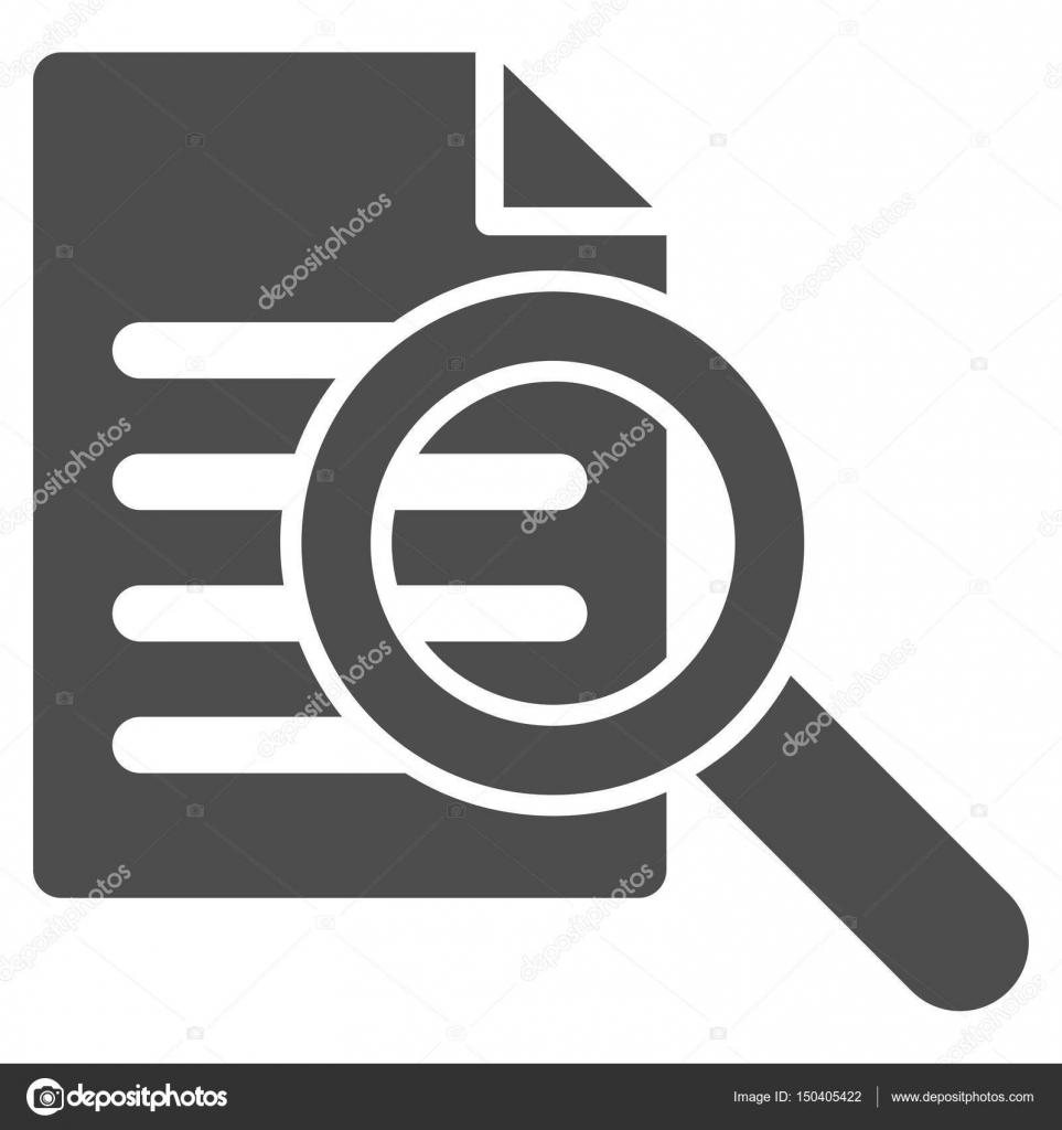 8b185517160e6 Búsqueda de pictogramas de vector del documento. Estilo de ilustración es  un plano icónico símbolo gris sobre un fondo blanco — Vector de ahasoft