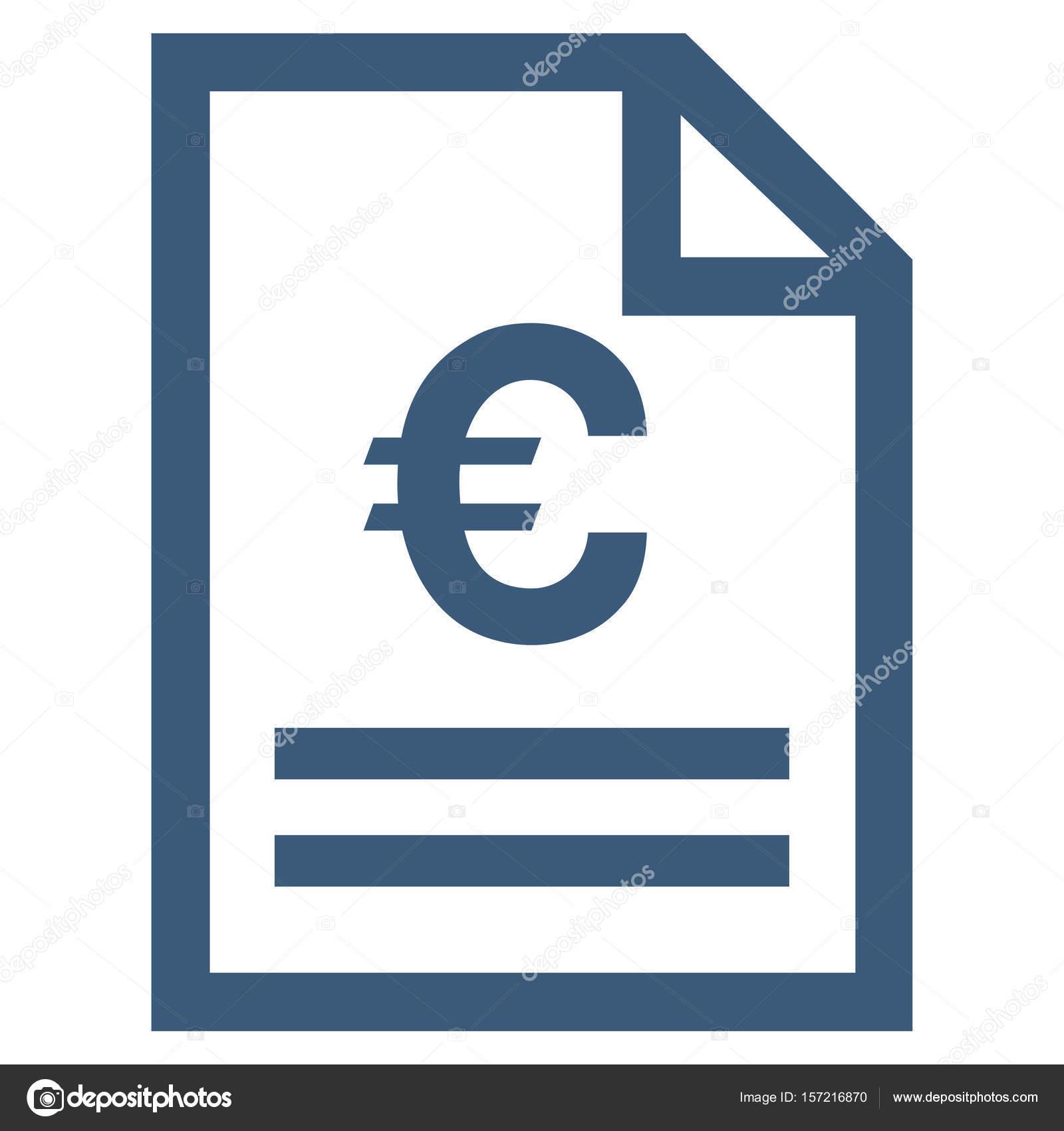 euro rechnung seite flach vektor icon stockvektor. Black Bedroom Furniture Sets. Home Design Ideas