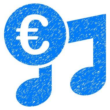 Euro Music Notes Grunge Icon