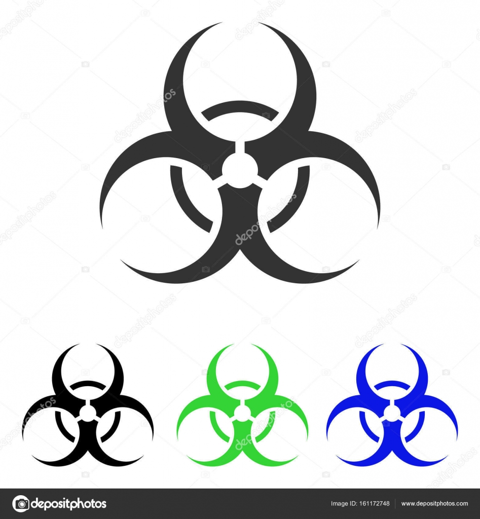 Biohazard symbol flat vector icon stock vector ahasoft 161172748 biohazard symbol vector pictogram illustration style is a flat iconic colored symbol with different color versions vector by ahasoft biocorpaavc Images